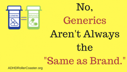 ADHD generic medications