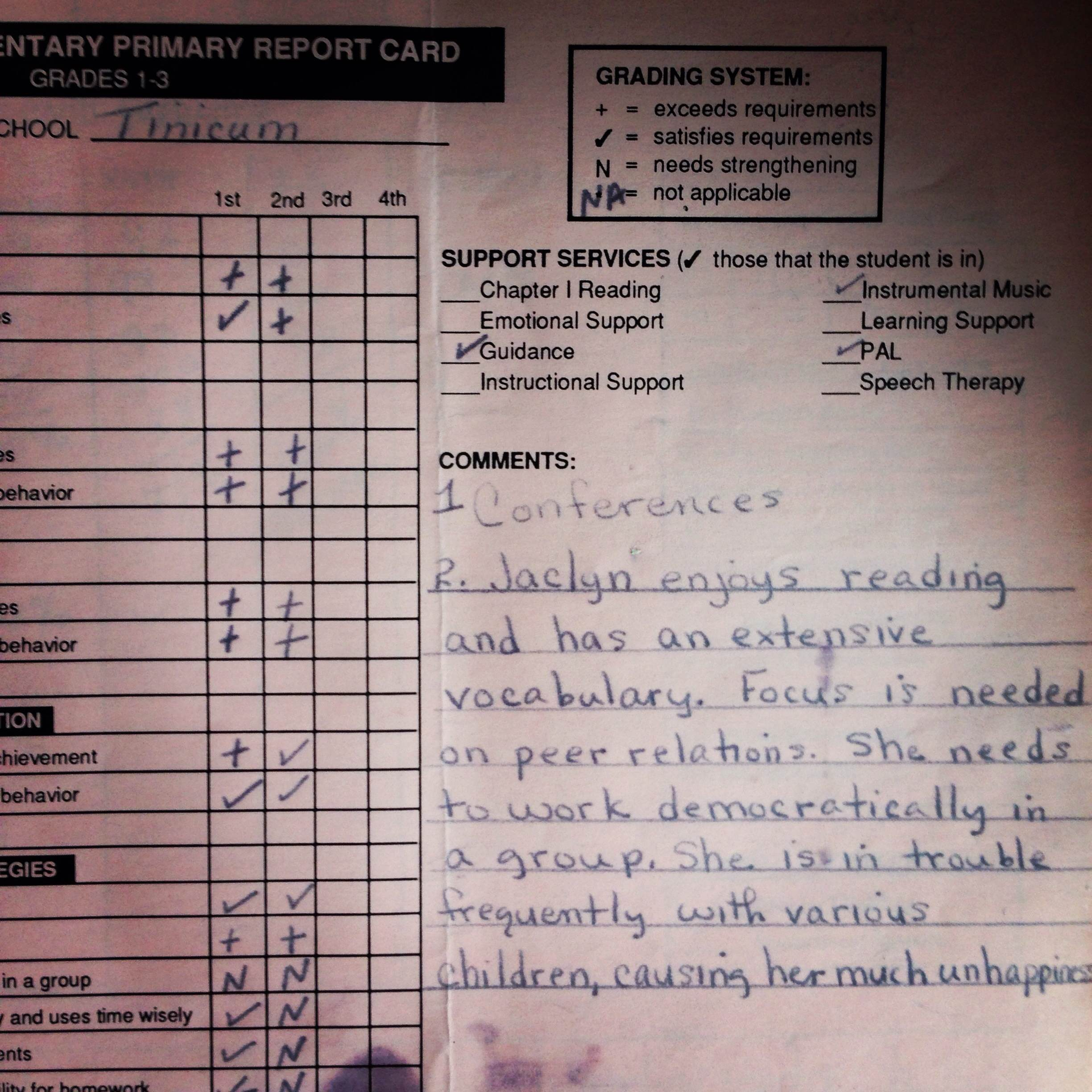 the late adhd diagnosis of an american girl adhd roller coaster jaclyn s report card third grade