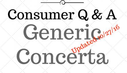Concerta generics