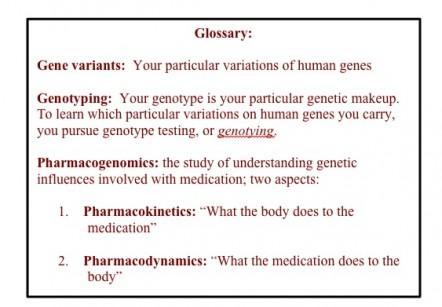 genotyping glossary