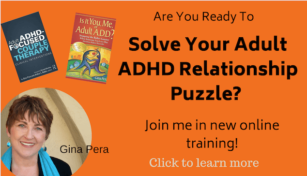 ADHD couple therapy training gina pera