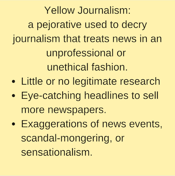 Yellow journalism The New York Times