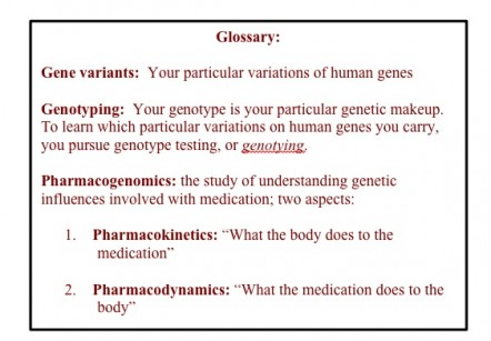 genotyping glossary