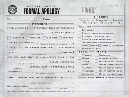 ADHD apology