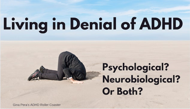man in suit with head in sand ADHD deninal
