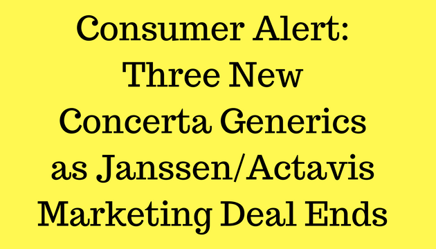 Consumer Alert: Three New Concerta Generics Enter Market