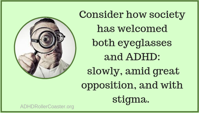 eyeglasses, ADHD, and stigma