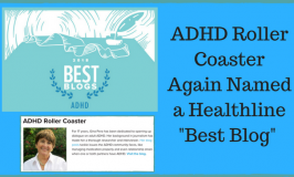 ADHD Roller Coaster Named A Healthline Best Blog for 2018