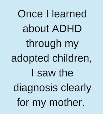 ADHD misdiagnosed as Alzheimer's
